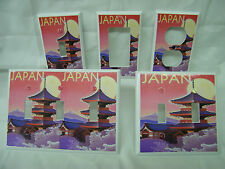 Japan Sunset Japanese Garden Pagoda Light Switch Cover Plate Outlet Double GFI