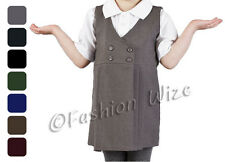 Girls School Pinafore Dress Grey Black  Age 2 3 4 5 6 7 8 9 10 11 12 13 14 15 16