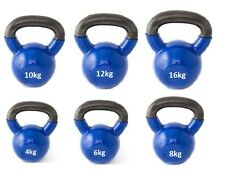 Kettlebells cast iron 4kg 6kg 8kg 12kg 16kg 20kg coated kettle bell exercise gym