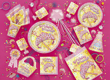 EVERYTHING PRETTY PRINCESS GIRLS PINK BIRTHDAY PARTY MAXPOST £2.99 2ND £3.99 1ST