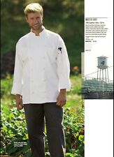 Exec White Chef Coats, Egyptian Cotton, Hand Rolled Buttons, Long Sleeve-451