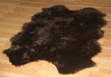 DARK BROWN Sheepskin Faux Fur Pelts mongolian sexy soft long hair rugs washable