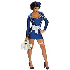 Betty Boop Costume Sexy Pin Up Sailor Girl Adult Halloween Fancy Dress