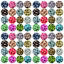 Wholesale Lots Glass Pearl Round Spacer Loose Beads 4mm/6mm/8mm/10MM 23Colors