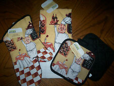 WINE & CHEESE CHEF * CHOOSE Kitchen Terry Towel, Quilted Potholder or Oven Mitt