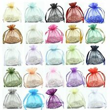 30/100pcs Jewelry Packing/Wedding/Party Favor Gift Bags 16colors U pick