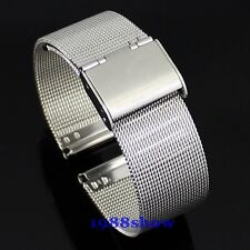 New All Size Lug Width 8mm~22mm Stainless Steel Watch Mesh Bracelet Replace Band