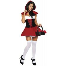 Little Red Riding Hood Costume Sexy Adult Fairytale Halloween Fancy Dress