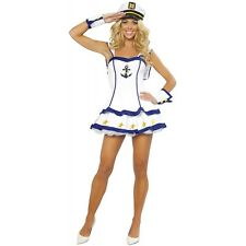 Sailor Girl Costume Sexy Adult 40s Pin Up Halloween Fancy Dress
