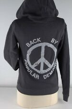 Junk Food Charcoal Wash Popular Demand Zipper Hoodie Junior-3693