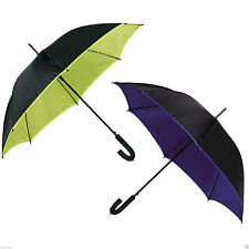 Big 2 Layer Umbrella - Opens automatically - Coloured Edge - 8 Panels