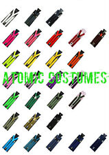 Suspenders Quality Clip On Costume Adults Kids Mens Womens Fancy Dress Bright