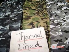 combat cargo fleece lined thermal work bottoms ARMY CAMO NEW WARM WINTER TROUSER