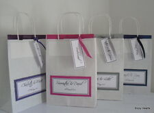 *NEW*  LUXURY PERSONALISED PAPER WEDDING FAVOUR PARTY GIFT BAG