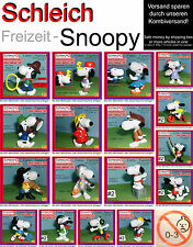 "Schleich Snoopy Sporter Hund, Peanuts Woodstock Belle ""NO CE"" low Inter.Shipment"