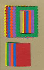 Your choice of colors on Frames-Scallop Die Cuts - AccuCut