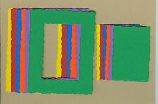 Your choice of colors on Deckle Rectangle #1 Die Cuts - AccuCut