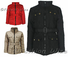 Girls Padded Jacket Coat Belted Quilted Jacket Winter StoneAge 7 8 9 10 11 12 13