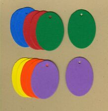 Your choice of colors on Oval Gift Tags #3 Die Cuts - AccuCut