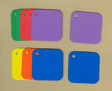 Your choice of colors on Mini Square Gift Tags #2 Die Cuts - AccuCut