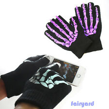 2Color Cell Phone Touch Screen Gloves Skeleton Fr Iphone HTC Moto Samsung Tablet