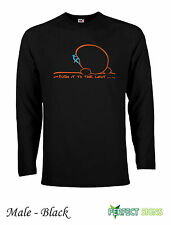 Rock Climbing Bouldering Wall Indoor Long Sleeve T-Shirt  S-XXL FREEP&P - Black