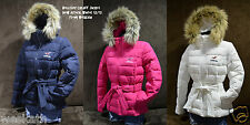 NWT Hollister HCO by Abercrombie Womens Cardiff Fur Hoodie Winter Coat Jacket