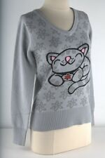 The Big Bang Theory Gray Pixel Soft Kitty Knit Sweater Junior-4031