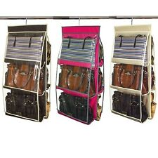 """Home Collections 6 Pocket 16"""" x 32"""" Hanging Purse Organizer"""