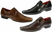 Mens Redtape Malago Black, Brown and Tan Leather Brogue Round toe Shoes UK 7-12