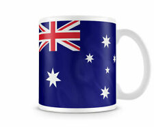 Printed Ceramic Mug Featuring The Australian Flag Both Sides or Wrapped Around