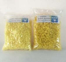 Pure Beeswax Pastilles yellow or white or Organic Yellow