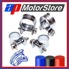 Zinc Plated Jubilee Mini Hose Clips Clamps Pipe Nut & Bolt - Air Fuel Water