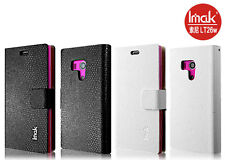 Black Ultra Slim Snake Grain Leather Case Cover For Sony Xperia acro S LT26W