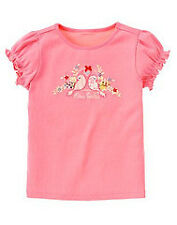 Gymboree Love is in the Air pink love birds s/s shirt top NWT