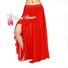 8 Color Gypsy Tribal Split Ends Chiffon Long Skirt Latin Belly Dance