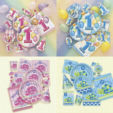 BABY BOY GIRL 1ST BIRTHDAY PARTY FIRST TABLEWARE CUPS PLATES NAPKINS DECORATIONS