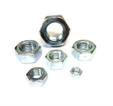 M2 M2.5 M3 M4 M5 M6 Nuts  - Hexagon Full Nut - Zinc Plated Mild Steel Full Nut