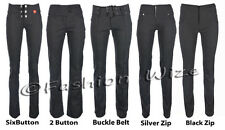 Ladies Girls Stretch Hipsters Miss Sexies Miss Chief Grey School Trousers 4-16