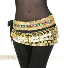 Velvet Sequins Crystal 248 coins Hip Scarf Belt Chain Belly Dance Costumes