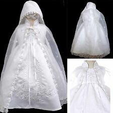 New Baby Girl Infant Toddler Baptism Christening Formal Dress Size (0-30M) White