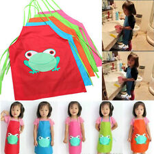 New Cute Child's Children Waterproof Apron Cartoon Frog Printed Painting Cooking