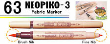 NEOPIKO-3 Pink Red Shades Deleter Fabric Marker Professional Art Supplies
