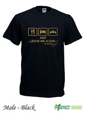 EAT SLEEP  AND LEAVE ME ALONE  KIMI RAIKKONEN T-SHIRT S-3XL - Black