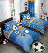 Twin,Full,Bunk bed Boys Football & Soccer Comforter Set with Matching Curtains