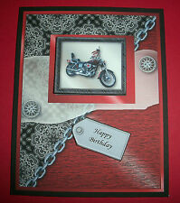 Handmade Greeting Card 3D With A Motorcycle