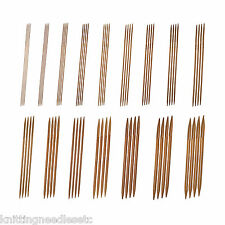 "Double Point Knitting Needles Bamboo 10"" (~25 cm) Carbonized - Many Sizes-Knitzy"