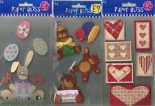 Assorted PAPER BLISS STICKERS 3D Choice EASTER HOLIDAY BABY HEARTS TAGS  & more