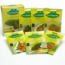 A Vogel Biosnacky sprouting seeds easy grow Bulk Box of 12 packs Bioforce