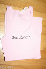 NWT Victoria's Secret Bachelorette Party Rhinestone Bling Tank Top Pink S/M/L